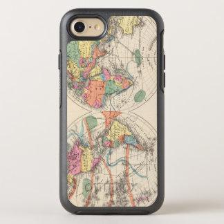 El mapa del atlas del mundo con las corrientes y funda OtterBox symmetry para iPhone 7