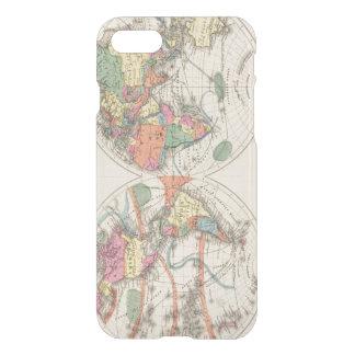 El mapa del atlas del mundo con las corrientes y funda para iPhone 7