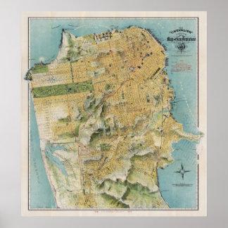 El mapa del Chevalier de San Francisco (1912) Posters