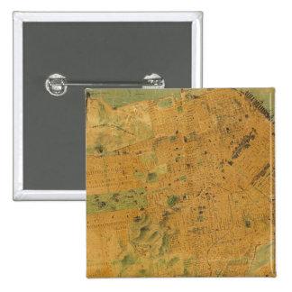 El mapa del Chevalier de San Francisco Pin Cuadrado