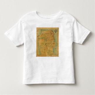 El mapa del Chevalier de San Francisco Playera De Bebé