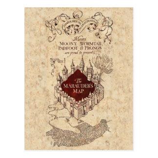El mapa del merodeador de Harry Potter el | Postal