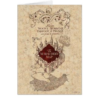 El mapa del merodeador de Harry Potter el | Tarjeta De Felicitación