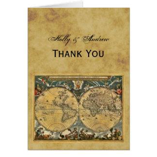 El mapa del mundo antiguo BG apenada le agradece Tarjeton