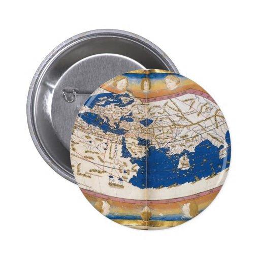 El mapa del mundo de Ptolomeo Pins