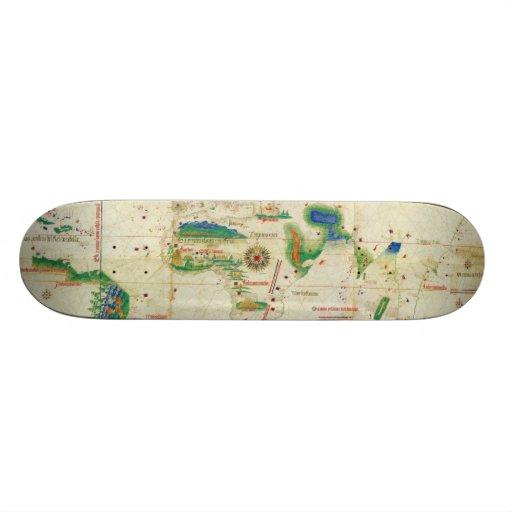 El mapa del mundo del planisferio de Cantino (1502 Tabla De Patinar