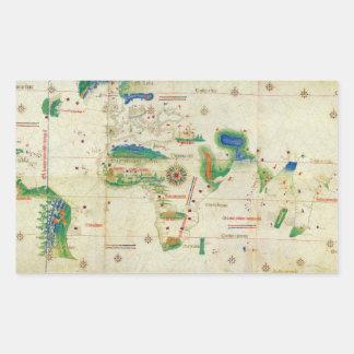 El mapa del mundo del planisferio de Cantino 1502 Rectangular Altavoces