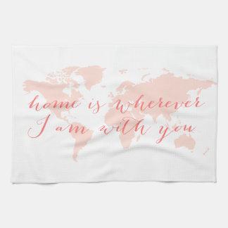 El mapa del mundo, hogar es dondequiera que esté toallas