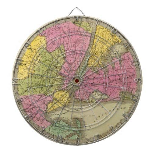El mapa del país veinticinco millas redondea