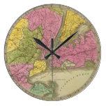 El mapa del país veinticinco millas redondea reloj redondo grande