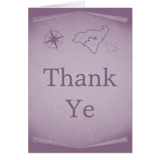 El mapa del tesoro le agradece cardar, púrpura felicitación