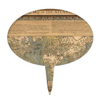"""El mapa del """"tiempo y de la marea"""" de la carta atl decoración de tarta"""