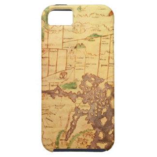 """El mapa del """"tiempo y de la marea"""" de la carta atl iPhone 5 Case-Mate cárcasas"""