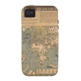 """El mapa del """"tiempo y de la marea"""" de la carta atl iPhone 4/4S carcasa"""