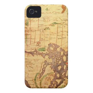 """El mapa del """"tiempo y de la marea"""" de la carta atl Case-Mate iPhone 4 cárcasas"""