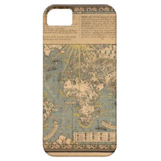 """El mapa del """"tiempo y de la marea"""" de la carta atl iPhone 5 funda"""