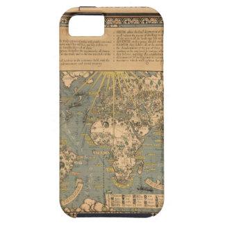 """El mapa del """"tiempo y de la marea"""" de la carta atl iPhone 5 protectores"""