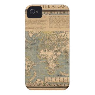 """El mapa del """"tiempo y de la marea"""" de la carta atl iPhone 4 Case-Mate cobertura"""