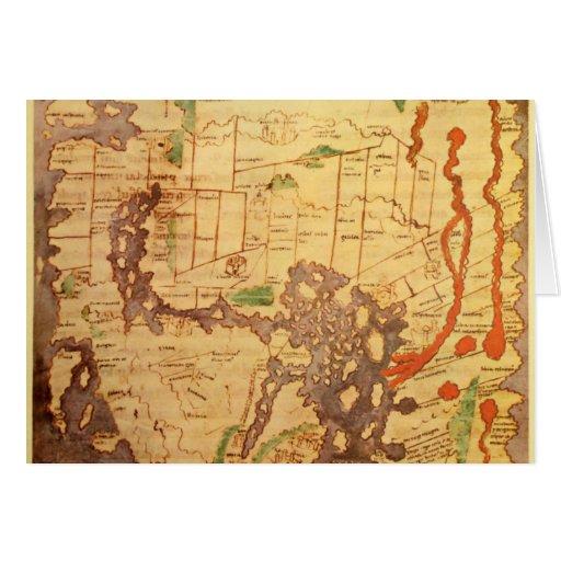 """El mapa del """"tiempo y de la marea"""" de la carta atl tarjeta de felicitación"""