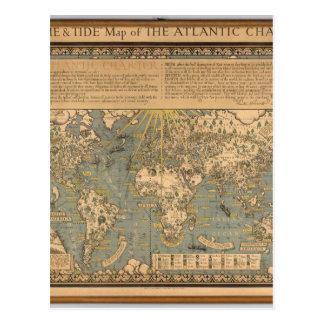 """El mapa del """"tiempo y de la marea"""" de la carta atl postales"""