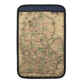 El mapa del vintage del Michigan Railroads (1876) Fundas MacBook