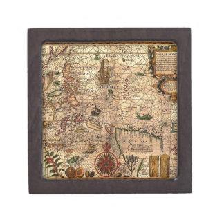 el mapa hictoric más importante de Asia Caja De Joyas De Calidad