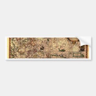 el mapa hictoric más importante de Asia sudorienta Pegatina De Parachoque