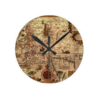 el mapa hictoric más importante de Asia sudorienta Relojes De Pared