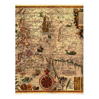 el mapa hictoric más importante de Asia sudorienta Tarjeta Postal