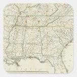 El mapa histórico de la guerra calcomanía cuadrada personalizada