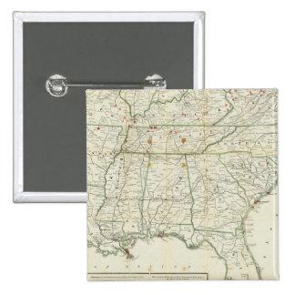 El mapa histórico de la guerra pin cuadrada 5 cm