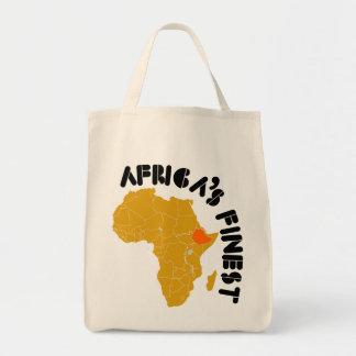 El mapa más fino de Etiopía, África de África Bolsa Tela Para La Compra
