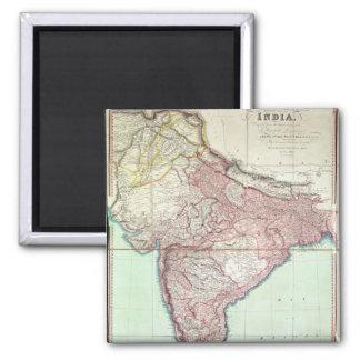 El mapa mejorado de la India publicó en Londres 18 Imán Cuadrado
