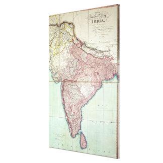 El mapa mejorado de la India publicó en Londres 18 Impresion En Lona