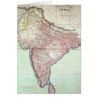 El mapa mejorado de la India publicó en Londres 18 Tarjeta De Felicitación