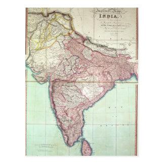 El mapa mejorado de la India publicó en Londres Postal