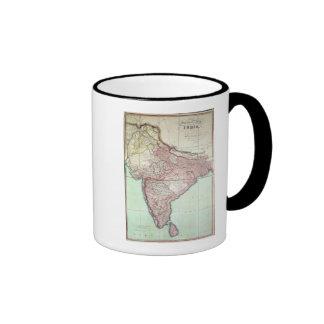 El mapa mejorado de la India publicó en Londres Taza De Dos Colores