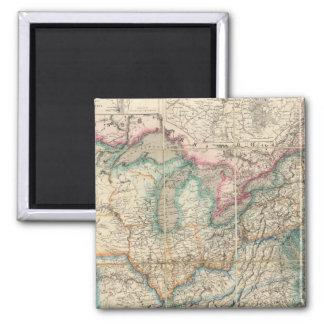 El mapa militar de Wyld de los Estados Unidos Imanes