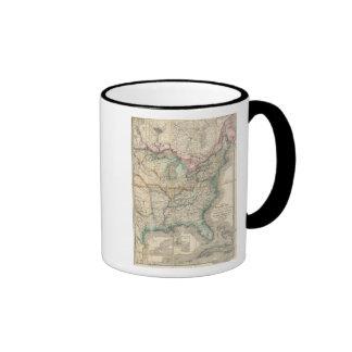 El mapa militar de Wyld de los Estados Unidos Tazas De Café