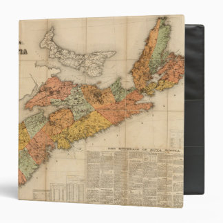 "El mapa mineral de la iglesia de Nueva Escocia Carpeta 1 1/2"""