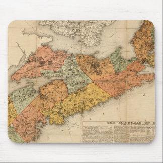 El mapa mineral de la iglesia de Nueva Escocia Alfombrilla De Raton