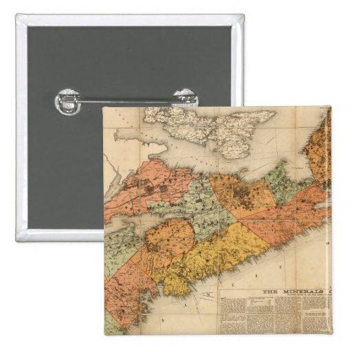 El mapa mineral de la iglesia de Nueva Escocia Pins