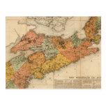El mapa mineral de la iglesia de Nueva Escocia Postales