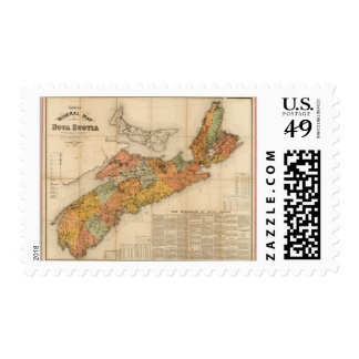 El mapa mineral de la iglesia de Nueva Escocia Timbre Postal