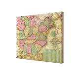 El mapa nacional de Mitchell de la república ameri Lona Estirada Galerías