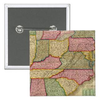 El mapa nacional de Mitchell de la república ameri Pin Cuadrado