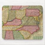 El mapa nacional de Mitchell de la república ameri Mousepad
