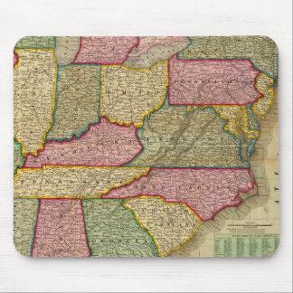 El mapa nacional de Mitchell de la república ameri Alfombrilla De Ratones