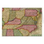 El mapa nacional de Mitchell de la república ameri Tarjeta De Felicitación