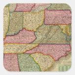 El mapa nacional de Mitchell de la república Pegatina Cuadrada